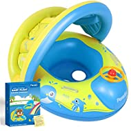 Peradix Baby Pool Float with Canopy Sunshade