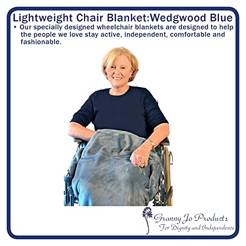 Granny Jo Products Lightweight Wheelchair Blanket, Wedgwood Blue