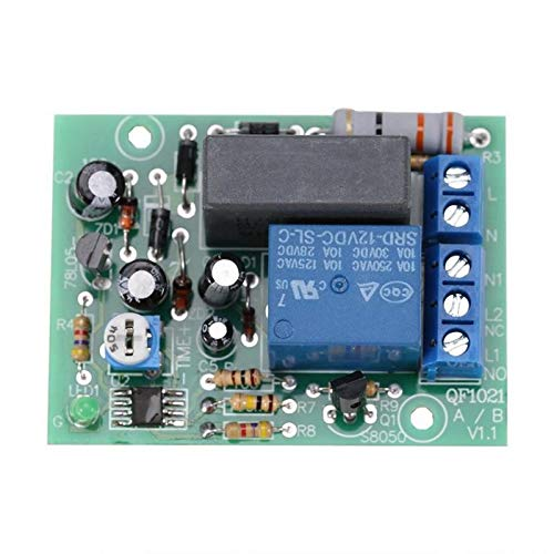 WATPET Moduto Scienza Relè Modulo CA 220V Ajustable Tiempo de Retardo de Interruptor Encender/Apagar Hora del módulo de relé 0 10 Horas Fácil de Montar