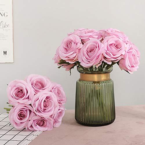 XdiseD9Xsmao 1 Pz No Sbiadimento Artificiale Fiore di Rosa Bouquet da Sposa Fiore Finto Fai da Te Casa Giardino Festa Festa di Natale Decorazioni per