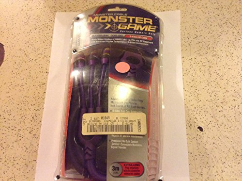 Monster Cable GameLink 300 GC S-Video A/V Cable for GameCube