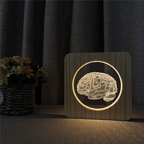 Gehirn Design 3D Led Arylic Nachtlampe Tisch Lichtschalter Steuerung Carving Lampe Für Schule Universität Dekorieren