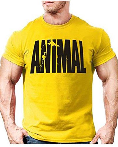 Minetom Verano Cuello Redondo Premium T-Shirt Hombre Camiseta para Hombre Básica De Manga Corta Fitness Sports Manga Corta Animal Imprimir tee