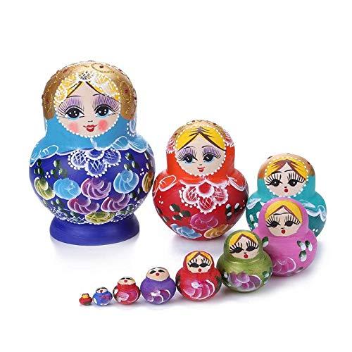 Khosd 10 Capas De Madera Ruso Anidar Muecas Matryoshka Decoracin del Hogar Adornos Regalo Muecas Rusas Baby Craft Regalos para Los Nios De Cumpleaos