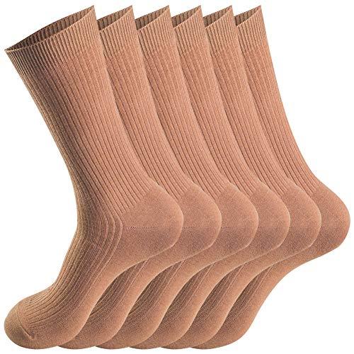 Smithking Quality Hygroscopic Comfy Breathable 100% Cotton Socks for Men & Women …