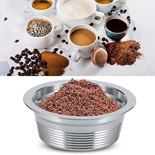 Wielokrotnego użytku wielokrotnego napełniania kapsułka do kawy, kapsułka do kawy ze stali nierdzewnej kubek film łyżka zestaw szczotek pasuje do ekspresu do kawy Lavazza A Modo Mio