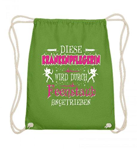 Shirtee James & Nicholson - Maglietta da infermiera con scritta in lingua tedesca, in cotone, 37-46 cm, colore: verde lime