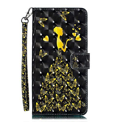 iPhone XR Hülle, CAXPRO® Leder und TPU Innere Brieftasche Handyhülle, Flip Ledertasche mit Standfunktion & Kartensfach für Apple iPhone XR, Mädchen