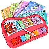 Digabi Xylophone-for-Kids Music Instruments - for Kids 2 in 1 Musical Instruments Piano Music Toy Learning Developmental