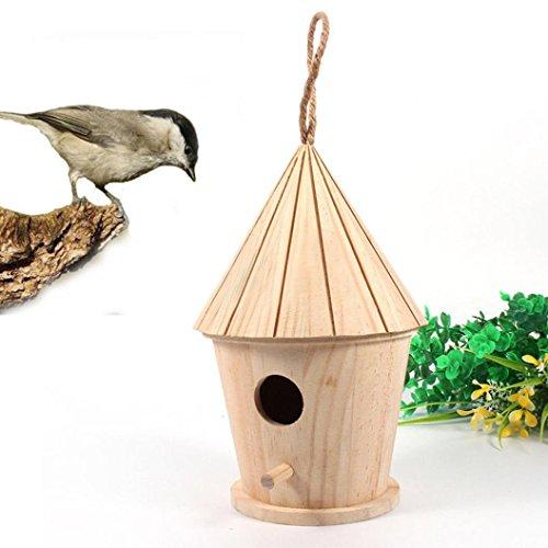 Venmo Neues Nest DOX Nest Haus Vogelhaus Vogel Box Vogel Box Holzbox Vogelhaus mit Ständer 10x9cm Vogelhäuschen aus Holz als Vogelfutterhaus für Schicke Vogelfutterstelle und Vogelvilla