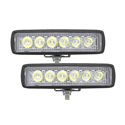 Xingyue Aile buitenverlichting & speelparaties 18W 12V 6 werklicht van de inch LED, stangen-koplamp-auto-vrachtwagen-aanhanger-niet voor het wegverkeer verlicht 4x4 4WD SUV ATV-werklamp 6000