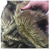 Faux Wolf Fur Fabric Langes Haar Für DIY Crafts, Leichte