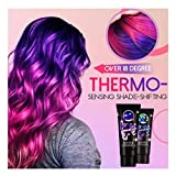 Thermochromic Color Changing Wonder Dyes - Magic Hair Dye Cream Mud Hair Color Wax Multicolor Hair Pigment, Fashion DIY Hair Coloring Dye Cream - Color Changing at 18°C/64°F (Purple)
