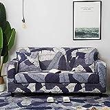 WXQY Funda de sofá de Estilo Bohemio Funda de sofá de Sala de Estar elástica de algodón Puro Funda de sofá Individual sillón Chaise Longue A15 4 plazas