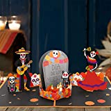 Day of the Dead Pop Up Card Día de los Muertos 3D Card Sugar Skull Gift Card Fiesta Greeting Card with Envelope For Mexican Birthday Wedding Bachelorette Fiesta Party Halloween Party Supplies…