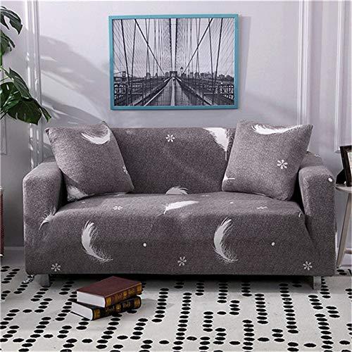 ASCV Moderne elastische Sofabezug für Wohnzimmer Sofa Schonbezüge Tight Wrap All-Inclusive Couchbezug Möbelschutz A6 4-Sitzer