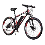 LIEIKIC 26 Inch Electric Bikes for Adults Mountain Bike with 36v 8ah Lithium Battery Offroad Tires Bicycles Carbon Steel Full...