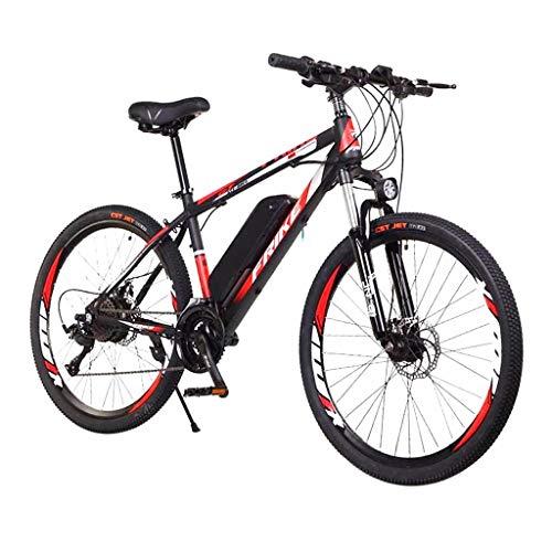 LIEIKIC Elektrofahrrad Ebike Mountainbike Klapprad 26 Zoll mit 36v 8ah Akku mit Gabelfederung & Beleuchtung Offroad-Reifen Scheibenbremse Elektrische E-Bike MTB für Herren Damen (Schwarz)