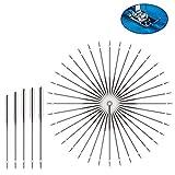 200pcs agujas para máquina de coser, agujas de máquina universales utilizadas para máquinas de coser Singer, Brother, Janome, Varmax, tamaños 65/9, 75/11, 90/14, 100/16, 110/18