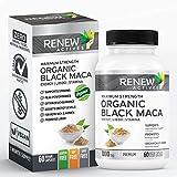 Organic Black MACA Dietary Supplement Pills- Vegan, Non GMO Certified – 1000mg of