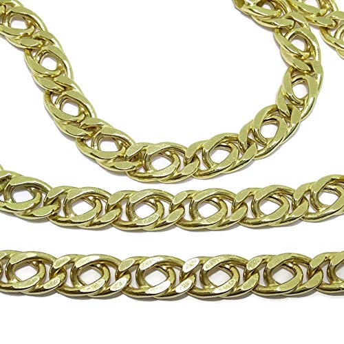 Cadena de Oro Amarillo de 18k para Hombre Grande y aparente. 60cm de Larga y 6.5mm de Ancha