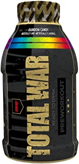 Redcon1 - Total War RTD Ready to Drink, 12 Pack, Great Tasting, On the Go, Caffeine, Beta-Alanine, Fast Energy (Rainbow Ca...