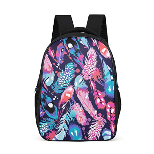 Feather Pink Blue Baby Boy's&Girl's Shoulder Bag Lightweight All Over Print Travel grey onesize