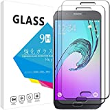 Samsung Galaxy A8 ガラスフィルム 【2枚セット】 Huy 強化ガラス 保護フィルム 業界最高硬度9H/高透過率/貼り付け簡単/気泡防止/飛散防止/スムースタッチ Samsung Galaxy A8 専用