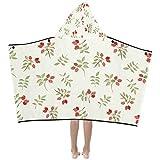 WBSNDB Sofa Throw Blanket Sweet Sour Hawthorn Fruit Dried Kids Hooded Blanket Bath Towels Throw Wrap for Toddler Child Girl Boy Home Travel Sleep Kids Size Blanket