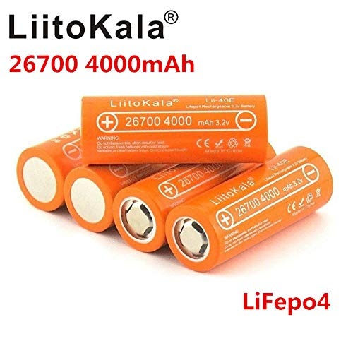 Lii-40E Lifepo4 26700 3.2v 4000mah wiederaufladbarer Akku Accu Lithium Akku große Kapazität 10A Pilas DIY Pack Mod Spielzeug-2St