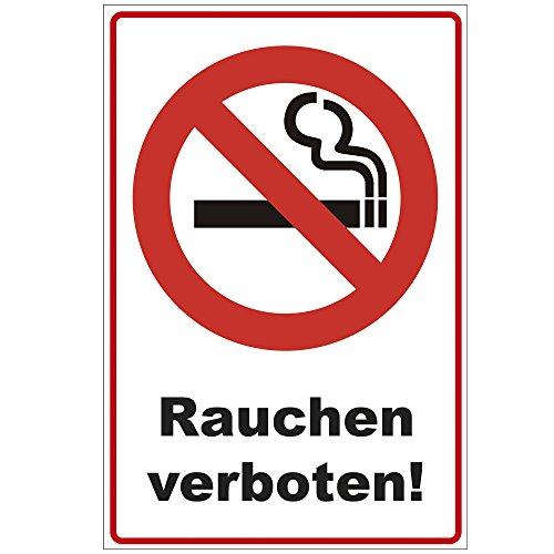 Schild 300x200 mm Rauchen verboten !, stabil aus Alu/Dibond - 3 mm stark