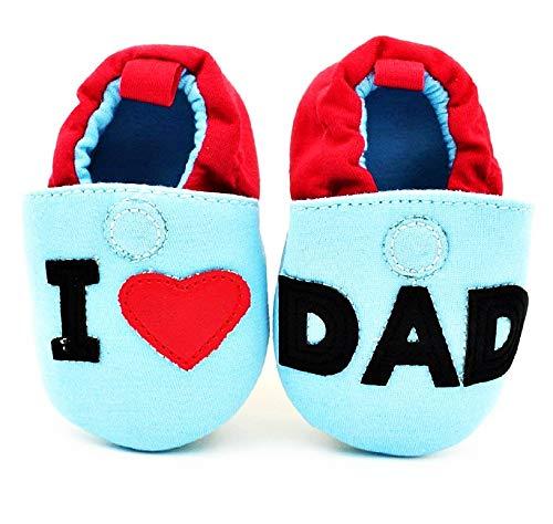 Zapatos para niños - bebés - corazón - Amo a papá - 6/9 Meses - te Amo a papá - Talla 11 - Idea de Regalo de cumpleaños