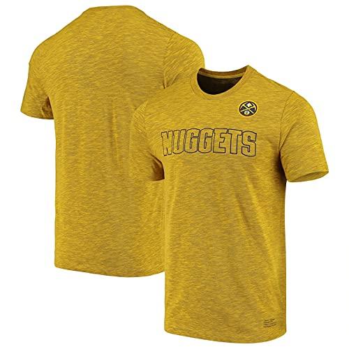 SHENXIAOMING T-Shirt Camiseta De Baloncesto para Hombre, Denver Nuggets Nikola Jodzic Murray Porter Manga Corta, Cómodo, Transpirable, De Secado Rápido, Lavable A Máquina,Amarillo,XL