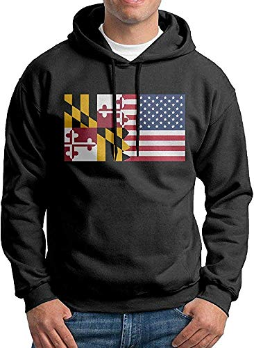 Threadrock Women/'s Maryland Flag Hoodie Sweatshirt State University