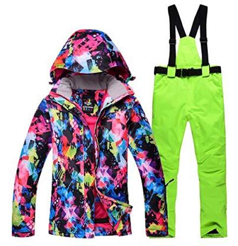 JSGJHXFFree Skipak voor dames, ski- of snowboardpak, jas en broek buiten, waterdicht, winddicht pak, winterskipak