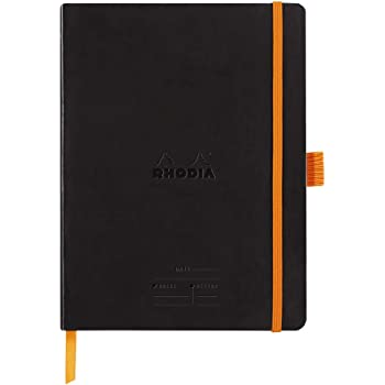 Rhodiarama Softcover 6 X 8 1/4 A5 Black Meeting Book