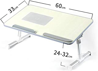 AINIYF Adjustable Laptop Bed Table Foldable Sofa Breakfast Tray Portable Bed Desk Mini Picnic Table (Color : D)