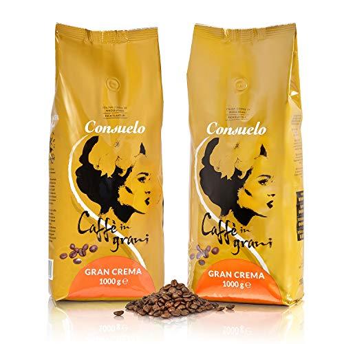 Consuelo Italienischer Caffè Gran Crema - ganze Bohnen, 2 x 1 kg