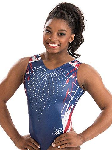 GK Girls Gymnastics Leotards Simone Biles Athletic One Piece (cm, Firecracker)