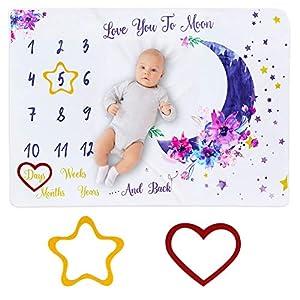 Manta Mensual De Hito Para Bebé,DIAOCARE bebe manta mensual hito 100 x 150 cm para recién nacidos, manta de meses para…