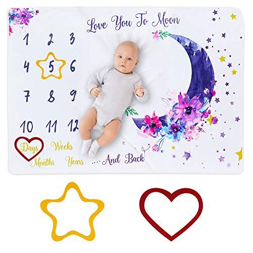 Manta Mensual De Hito Para Bebé,DIAOCARE bebe manta mensual hito 100 x 150 cm para recién nacidos, manta de meses para...