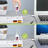 Lencent 2X Universal Adapter auf Deutschland DE Schuko Steckdose, zum Anschluss ausländischer Geräte Stecker z.B. UK England, USA Amerika, China, Japan, u.v.m, Reisestecker Reiseadapter Stromadapter - 5