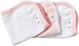 Burt's Bees Baby - Washcloths, Absorbent Knit Terry, Super Soft 100% Organic Cotton (Blossom Pink, 3-Pack)