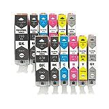 Reemplazo De Cartucho De Tinta para Canon PGI-270XL CLI-271XL para Usar con PIXMA MG5720 MG5721 MG5722 MG6820 MG6821 MG6822 MG7720 Impresora Two Sets