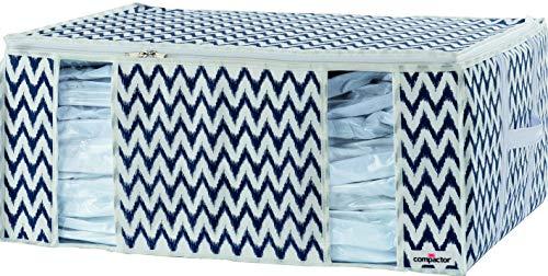 Compactor XXL diseño con motivos de familia bolsa de compresión, blanco y azul