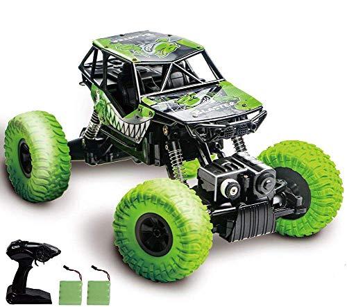 heyesupio Wasserdichter RC Truck 4x4 Offroad ferngesteuertes Auto für Jungen Crawler RC Cars für Kinder Mädchen,Grün