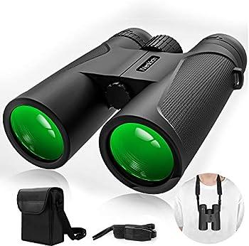 iVenkich TL-198 12x42 BAK4 Porro Prism Powerful Binoculars
