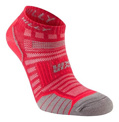 Hilly Twin Skin Socklet Wmn's Socks - Magenta/Greymarl, M