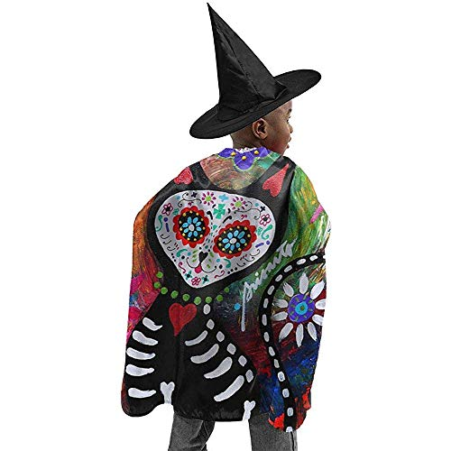 Cape Hexe,Zauberermantel,Cape Zauberer,Hexen Mantel,Zauberer Mantel,Wizard Cape,Hexen Umhang,Wizard Cloak,Witch Cloak,Witch Cape,Chihuahua Tag Der Toten Cat Halloween Hexe Cosplay Kostüme Robe Ca