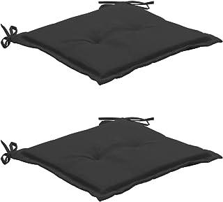 vidaXL 2X Cojines para Sillas Jardín Casa Hogar Sillones Asientos Salón Comedor Terraza Decoración Muebles Mobiliario Gris Antracita 50x50x3 cm
